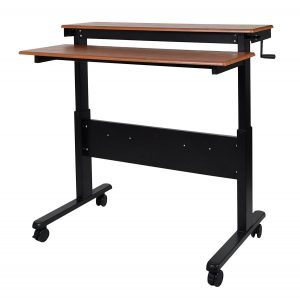 height adjustable standing desk crank bottom