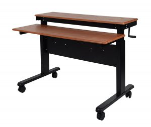 height adjustable standing desk crank top