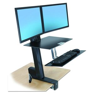 ergotron stand up desk workstation