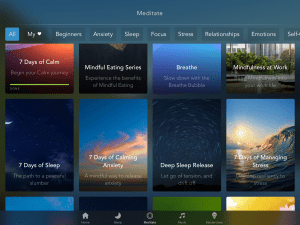 calm app review meditation homepage