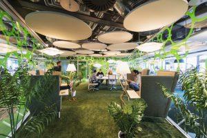 Freelance company culture Google cafe