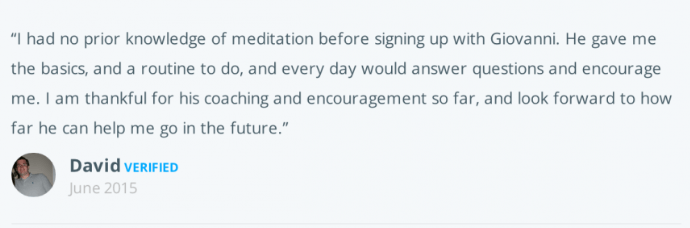 Live and Dare Beginners meditation course testimonial