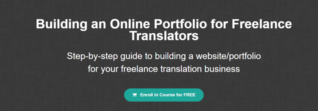 translation portfolio course header
